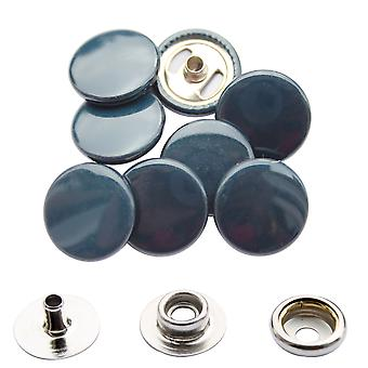 Navy 15mm 4-Part Press Studs, Snap Fasteners