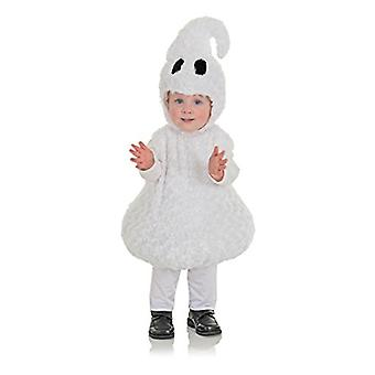 Underwraps Toddler's Halloween Ghost Belly Babies, White, Size Large (2T-4T)