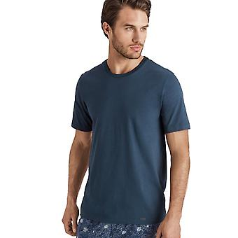Hanro Gentlemen Sleep & Lounge Living Leisure s/slv T- shirt blue 075050