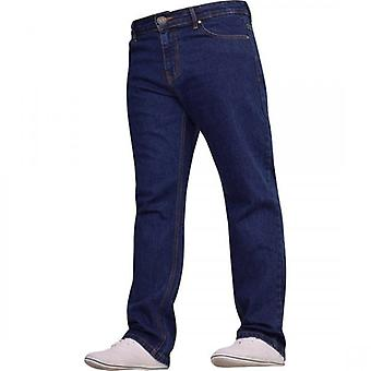 Spindle New Mens Bootcut Leg Basic Heavy Work Jeans Hardwearing Denim Pants All Waist Big Sizes