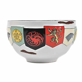 Game Of Thrones Bowl House Sigils Banner new Cereal Official White