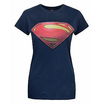 Superman Hombre de Acero Mujeres's Camiseta