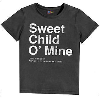 תותחים מוקטנים N ורדים ילד מתוק שלי ילדים חולצת טריקו