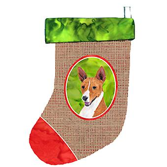 Carolines Treasures  SC1027-CS Basenji Christmas Stocking SC1027