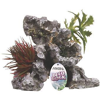 Marina Deco Rock - Steen met kleine planten (Vissen , Decoratie , Kunstplanten)