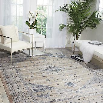 Malta Rugs Mai02 By Kathy Ireland In Beige And Blue