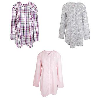 Cottonique Womens/Ladies Woven Night Shirt