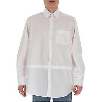 Valentino Tv0abe554ww001 Männer's weißes Baumwollhemd