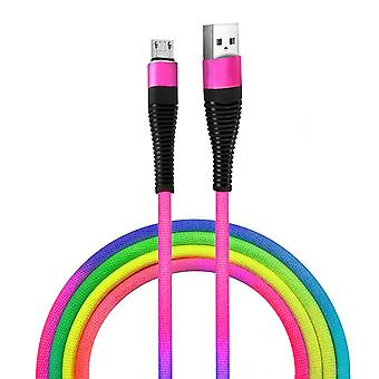 Micro-USB Charge and Sync Cable Stylish Design Rugged- Multicolor