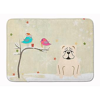 Christmas Presents between Friends English Bulldog White Machine Washable Memory