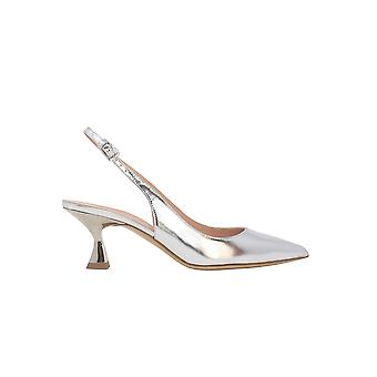 Ninalilou 301262gl Women's Silver Patent Leather Sandals