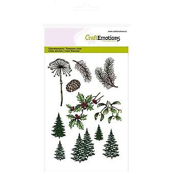 CraftEmotions Clear Stamps A6 - Chtistmas tree, branches Christmas Nature