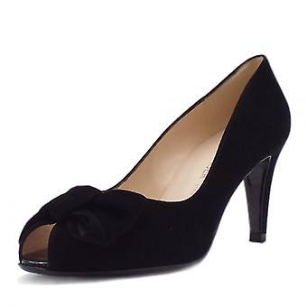 بيتر كايزر ساموس السيدات زقزقة إصبع القدم الأحذية في جلد الغزال الأسود
