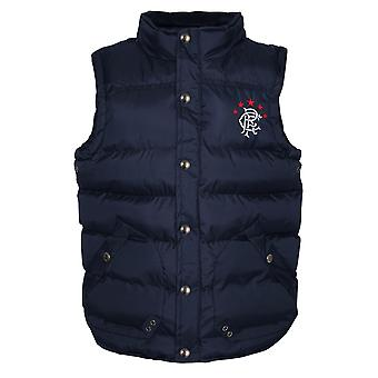 Rangers FC Official Football Gift Boys Padded Body Warmer Gilet