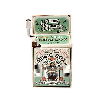 Retro Pocket Yellow Submarine Music Box