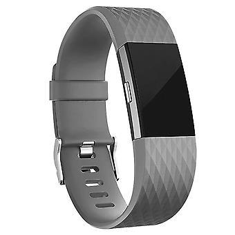 Pulsera Fitbit Charge 2 con patrón de rejilla
