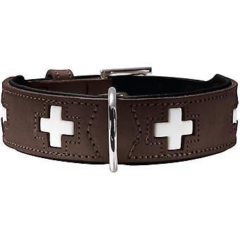 ハンター首輪スイス茶色と黒 (犬、首輪、リード、ハーネス、首輪)