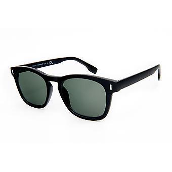 mężczyźni okulary przeciwsłoneczne matowy czarny z zielonym krążkiem (19-250)