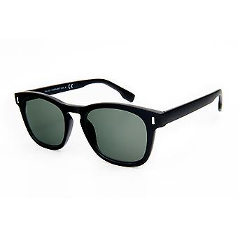 men sunglasses matt black with green disc (19-250)