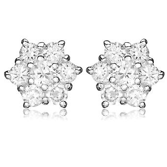 Tuscany Silver Earrings for Women's Stud in Silver Sterling 925 - with Cubic Zirconium 8.58.3309