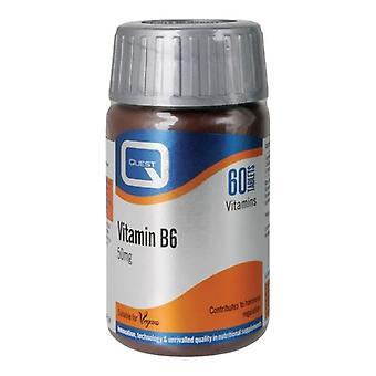 Quest Vitamins Vitamin B6 50mg Tabs 60 (601060)