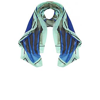 Sandwich Clothing Green & Blue Patterned Scarf