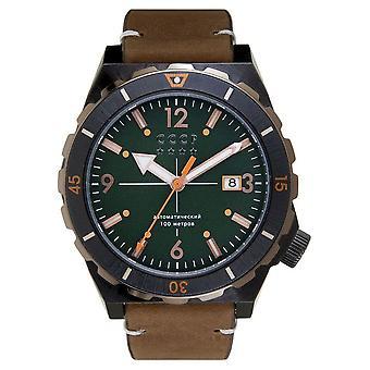 CCCP - Wristwatch - Herrren - AURORA - CP-7041-04 - Green / Brown