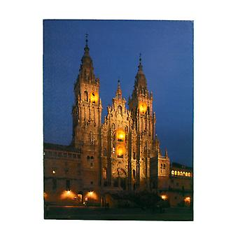 Jandei Box avec 4 Led of the Cathedral Santiago Compostela 40 x 30, 2 batteries AA