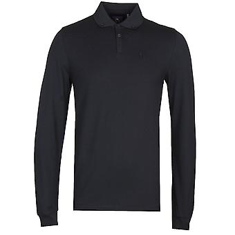 Luke 1977 New Bil Long Sleeve Black Polo Shirt