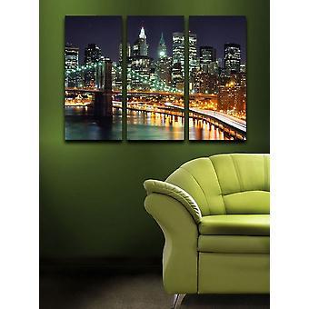 Pintura de parede 30 Algodão Multicolorido, Madeira 69x2x50 cm