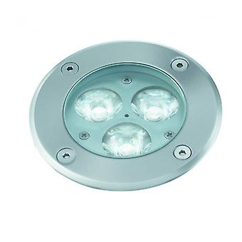Recessed Spotlight Led, Round, Stainless Steel And Glass
