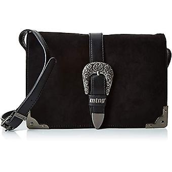 MTNG Collection BLED - Women Black Shoulder Bags (Antelina Negro) 550x1750x25 cm (W x H L)