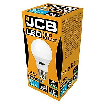 JCB LED A60 806lm Opal 10w Light Bulb E27 6500k