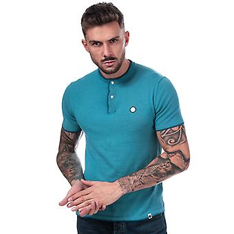 Men's Pretty Green Stockton Knit G-Dad T-Shirt in Blue