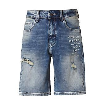 Funky Buddha Boys' Denim Shorts With Destroyed Effects
