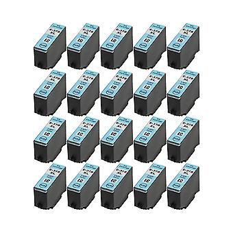 RudyTwos 20x Replacement for Epson 378XLLC Ink Unit LightCyan Compatible with XP-8500, XP-8505, HD XP-15000
