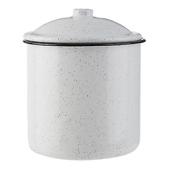 Hygge Large Black and White Canister