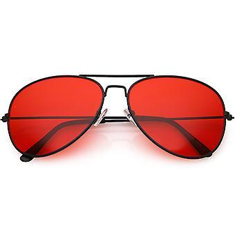 كبير المعادن الطيار الأحمر النظارات الشمسية عدسة ملون 58mm