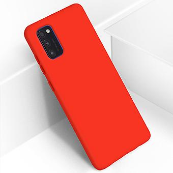 Back cover Samsung Galaxy A41 Semi-Rigid Silicone Soft-Touch Finish Red