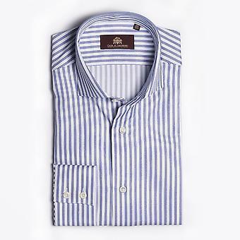 Circle Of Gentlemen  - Densley - Woven Stripe Shirt - Blue/White