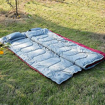 Outsunny Double Large Sleeping Bag Camping Climbing Trip Use Compact Envelope