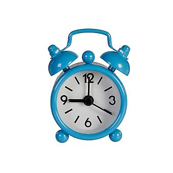 Blue Miniature Old Fashioned Style Alarm Clock - Cracker Filler Gift