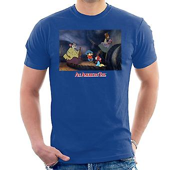 Un T-shirt American Tail Fievel And Family Men-apos;s