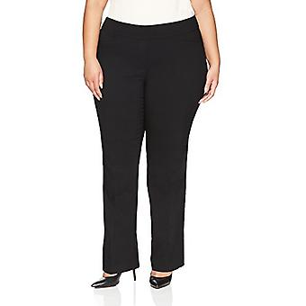 Brand - Lark & Ro Women's Plus Size Barely Bootcut Stretch Pant: Comfort Fit, Black, 18W