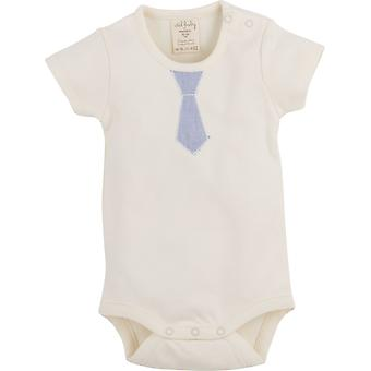 Idilbaby   Gots Organic  Boy  Baby   Albert   Cream   Body with Short Sleeves