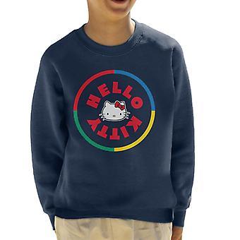 Hello Kitty Multicoloured Circle Kid's Sweatshirt