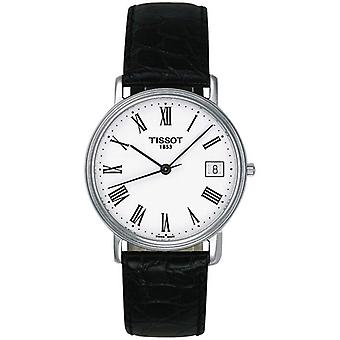 Tissot T52142113 T-Classic Desire White Dial Black Leather Men's Watch