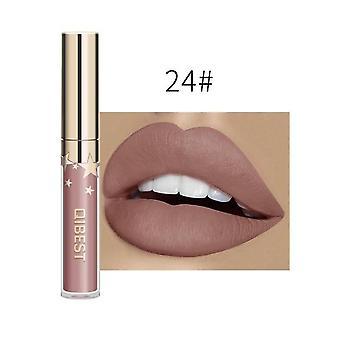 Vedenpitävä neste huulikiilto - metallinen matta huulipuna huulille kosmeettinen