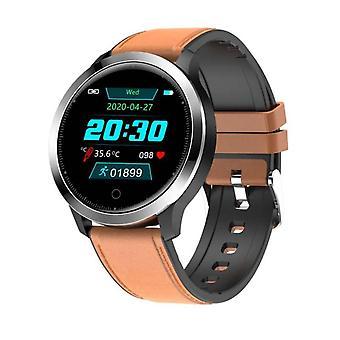 Smartwatch - mäter temperatur, hjärtfrekvens, blodtryck - Brun