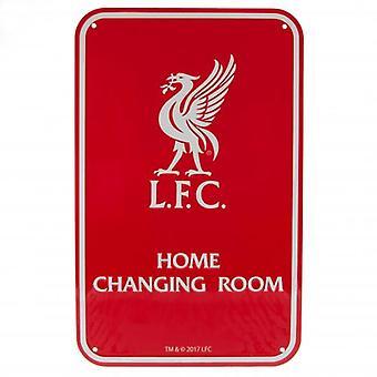 Signe de vestiaire de liverpool FC